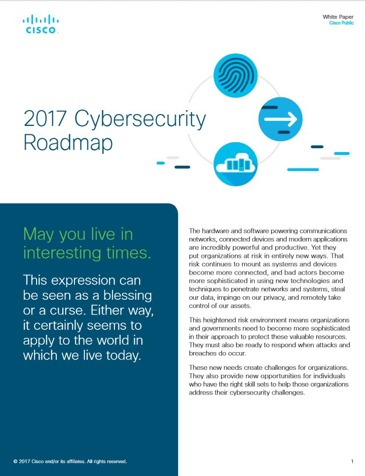 2017 Cybersecurity Roadmap: